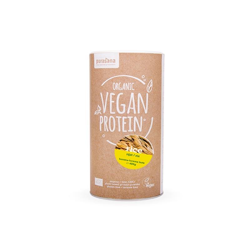 Purasana Organska veganska beljakovinska mešanica – banana/vanilija 400g
