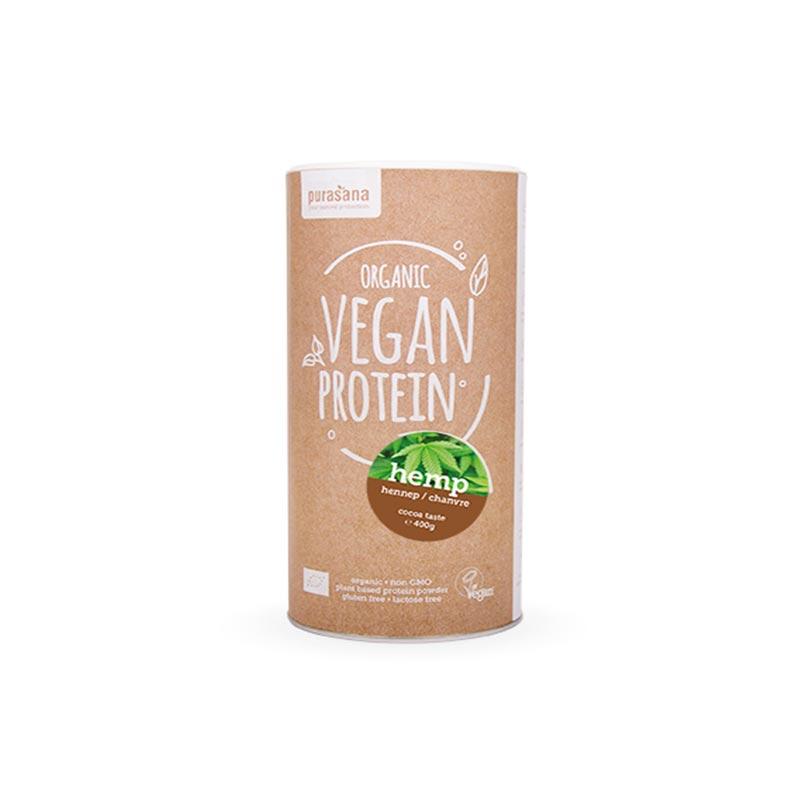 Purasana Organska veganska beljakovinska mešanica – kakav/čokolada 400g